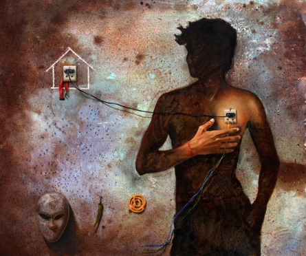 Some Relation | Painting by artist Amit Thombare | acrylic-oil | Canvas