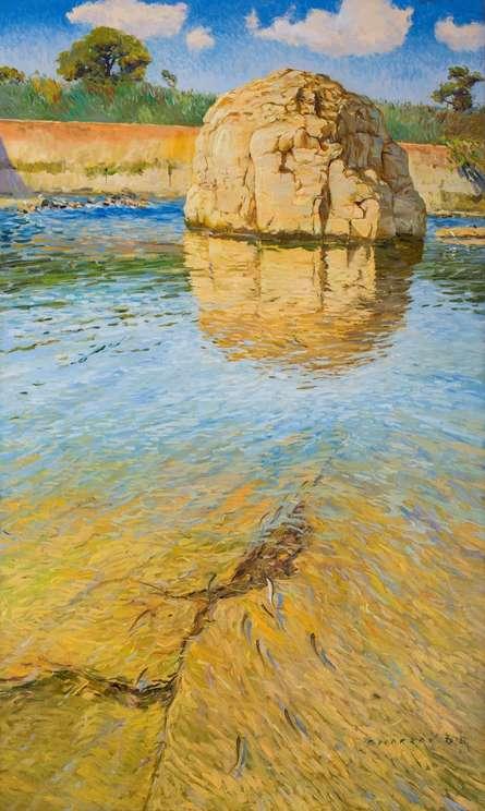 Reflections | Painting by artist Bhargavkumar Kulkarni | oil | Canvas