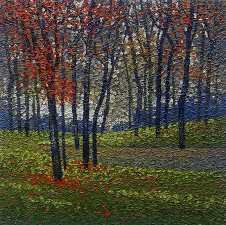 Landscape Oil Art Painting title Nature 1 by artist Satish Mane