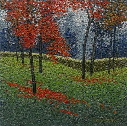 Satish Mane | Oil Painting title Nature 7 on Canvas | Artist Satish Mane Gallery | ArtZolo.com