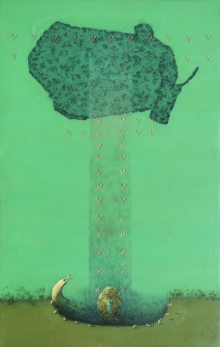 Golden Growth | Painting by artist Mukesh Hattarge | acrylic | Canvas