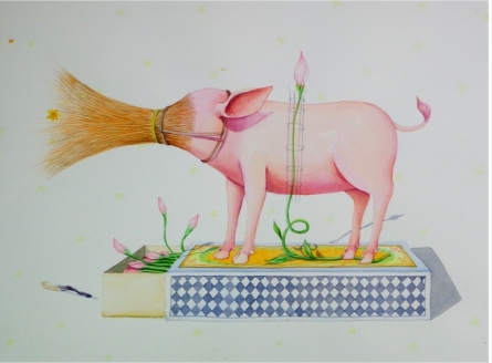 Cleaner 1 | Painting by artist Sanjay Kumar | watercolor | Paper