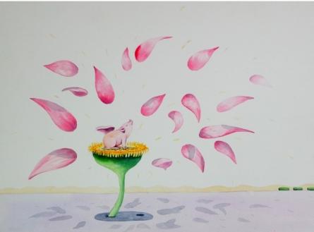 Animals Watercolor Art Painting title Nature 8 by artist Sanjay Kumar