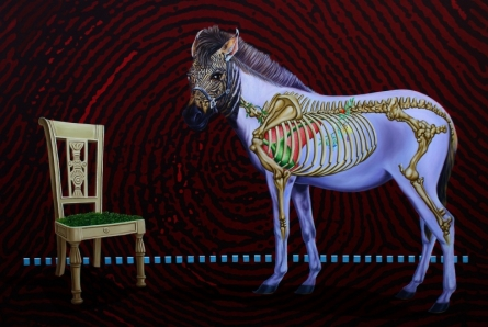 contemporary Acrylic Art Painting title 'Horse' by artist Sanjay Kumar
