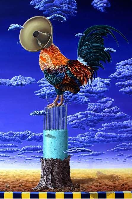 Speaker 2 | Painting by artist Sanjay Kumar | acrylic | Canvas