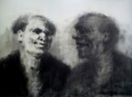 Aditya Puthur Paintings | Figurative Painting - The Talks by artist Aditya Puthur | ArtZolo.com