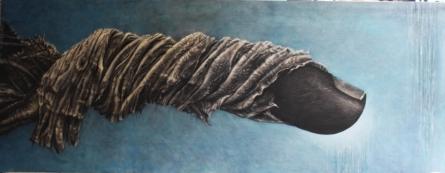 Figurative Oil Art Painting title 'Through The Fields Iii' by artist Vikram Nayak