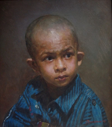 Age Of Innocence1 | Painting by artist Anupam Halder | oil | Canvas