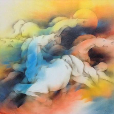 Horse   Painting by artist Vishnu Sonavane   acrylic   Canvas