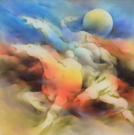Animals Acrylic Art Painting title Horse 1 by artist Vishnu Sonavane