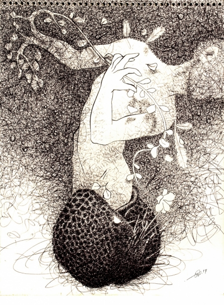 The Lost Seed | Drawing by artist Pratap Chakraborty | | Pen&Ink | Paper