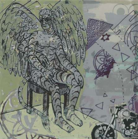 Figurative Mixed-media Art Painting title Incarnation 2 by artist Abhishek Chourasia