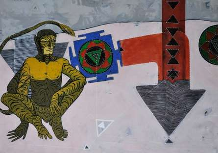 Figurative Acrylic Art Painting title 'Untitled' by artist Abhishek Chourasia