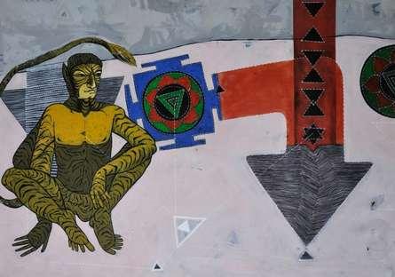 Untitled | Painting by artist Abhishek Chourasia | acrylic | Paper