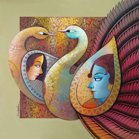 Religious Acrylic Art Painting title Enchant 8 by artist Sanjay Tandekar