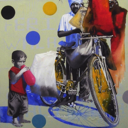 Balloon Seller 2 | Painting by artist Manohar Rathod | acrylic | Canvas