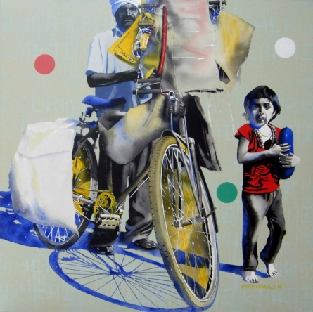 Lamkakadiwala | Painting by artist Manohar Rathod | acrylic | Canvas
