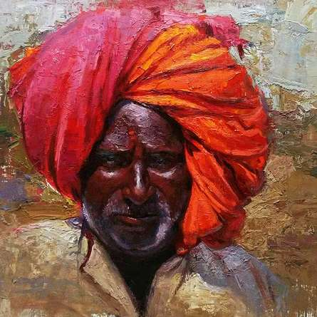 Pastoral Hues | Painting by artist Parag Borse | oil | Canvas