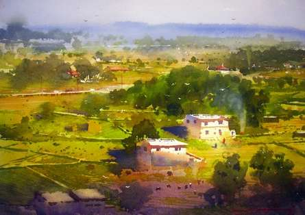 Kasgoan 2 | Painting by artist RAKESH SURYAWANSHI | watercolor | Paper