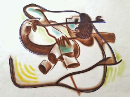 Archer | Drawing by artist Aditya Pandit |  | dry-pastel | Paper