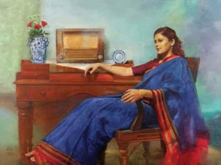 Pensive Thoughts | Painting by artist Aditya Phadke | oil | Canvas