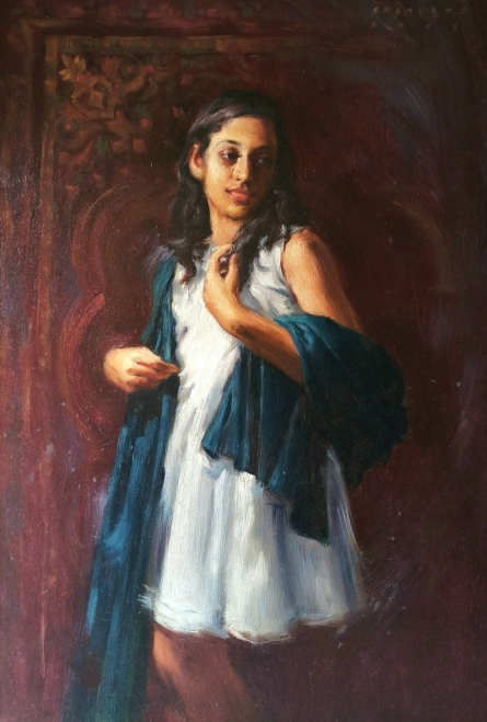Pallavi | Painting by artist Siddharth Gavade | oil | Canvas