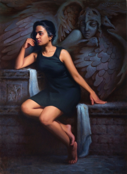 Figurative Oil Art Painting title The Idea Of Salvation by artist Siddharth Gavade