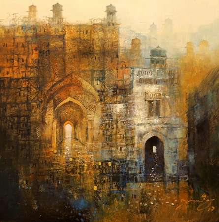 Cityscape Painting 4 | Painting by artist A. Q. Arif | oil | Canvas