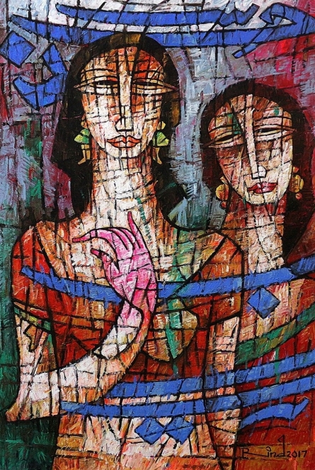 Figurative Painting 2 | Painting by artist A S Rind | acrylic | Canvas