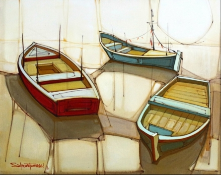Cityscape 5 | Painting by artist Salman Farooqi | acrylic | Canvas