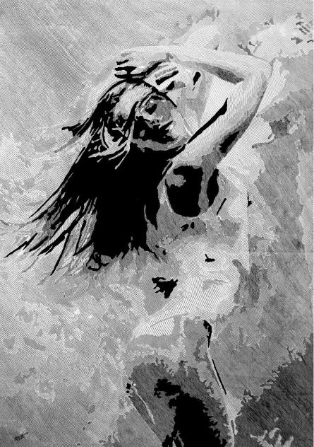 Dance | Drawing by artist Ashair Naeem |  | Pen&Ink | Canvas