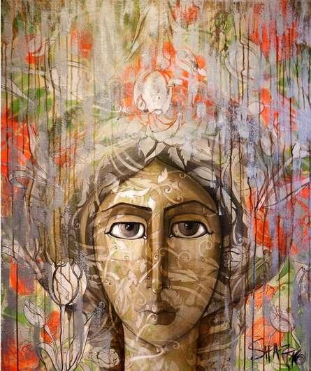 Face   Painting by artist Shaista Momin   acrylic   Canvas