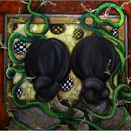 Friendship | Painting by artist Shaista Momin | acrylic | Canvas