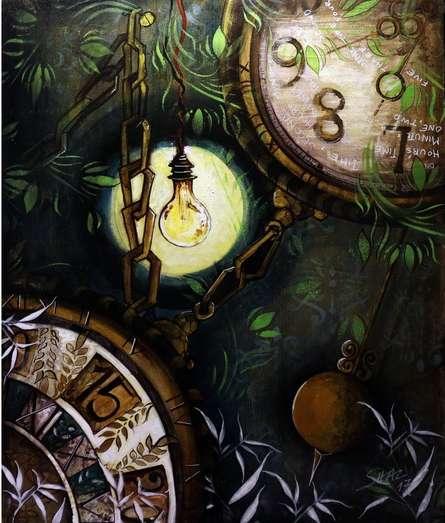 Time | Painting by artist Shaista Momin | acrylic | Canvas