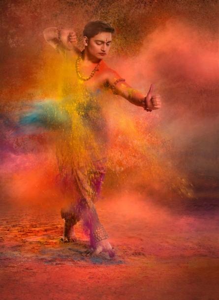 Dancing man 2 | Photography by artist Harrashad  Kaamble | Art print on Canvas