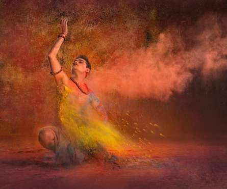 Dancing man 3 | Photography by artist Harrashad  Kaamble | Art print on Canvas