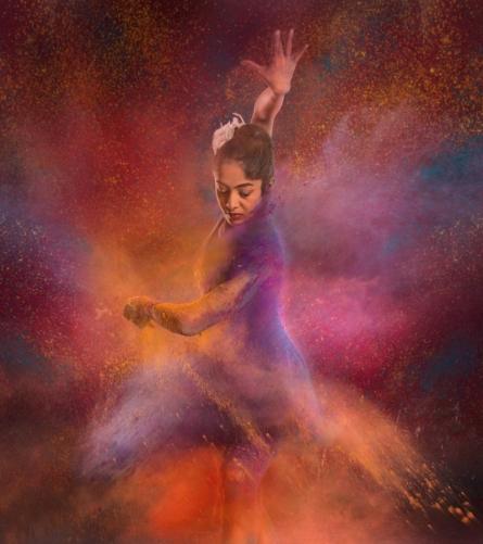Dancing women 2 | Photography by artist Harrashad  Kaamble | Art print on Canvas