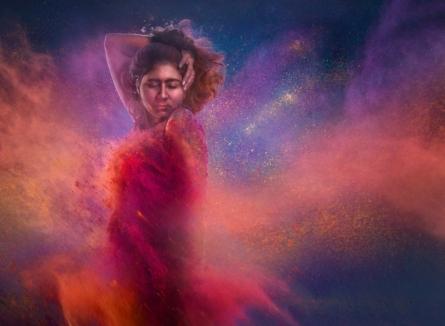 Dancing women 12 | Photography by artist Harrashad  Kaamble | Art print on Canvas
