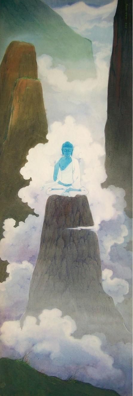 Buddha | Painting by artist Swapan Das | gouche | Paper