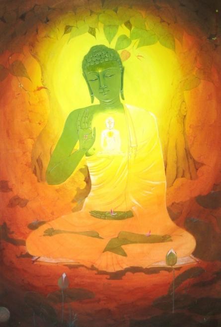 Lord Buddha | Painting by artist Swapan Das | gouche | Paper