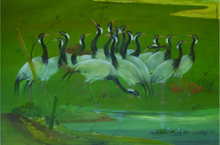Picnic | Painting by artist Swapan Das | gouche | Paper