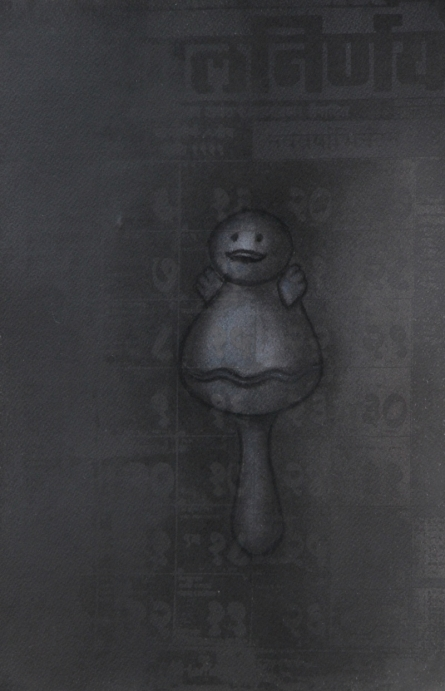 Toy 7 | Drawing by artist Deepak Sinkar |  | charcoal | Paper