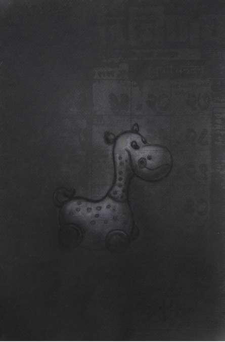 Toy 1   Drawing by artist Deepak Sinkar      charcoal   Paper