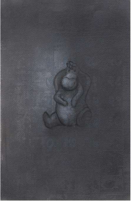 Toys Charcoal Art Drawing title 'Toy 5' by artist Deepak Sinkar