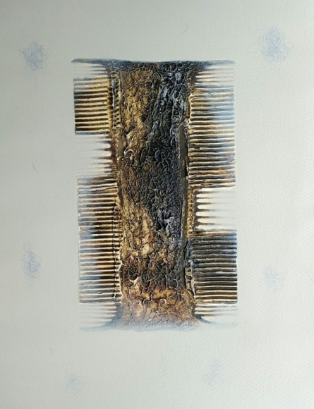 Lifestyle Mixed-media Art Painting title Comb 2 by artist Anand More