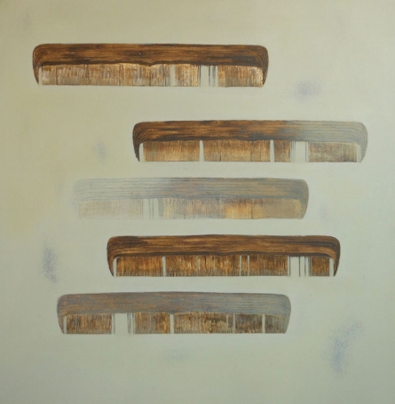 Comb 6 | Painting by artist Anand More | mixed-media | Canvas