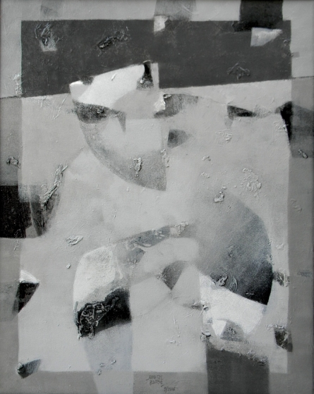 Jayesh Borse | Acrylic Painting title Black And White 2 on Canvas | Artist Jayesh Borse Gallery | ArtZolo.com