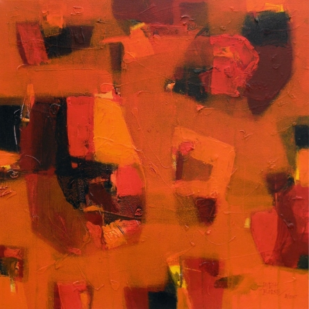 Abstract Acrylic Art Painting title 'Energy' by artist Jayesh Borse