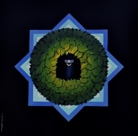 Religious Acrylic Art Painting title Araddhya by artist RAJIB DEYASHI