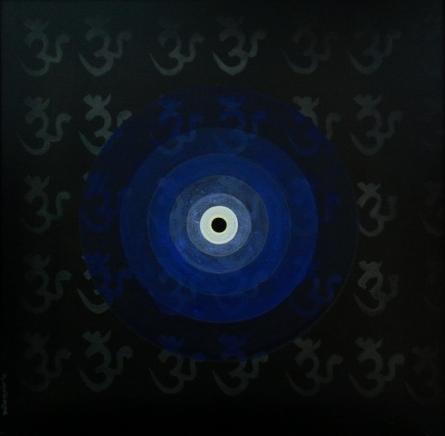 Religious Acrylic Art Painting title 'Inner Space 2' by artist RAJIB DEYASHI